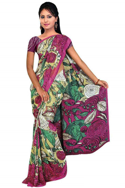 Diti Georgette Printed Casual Saree Sari Bellydance fabric