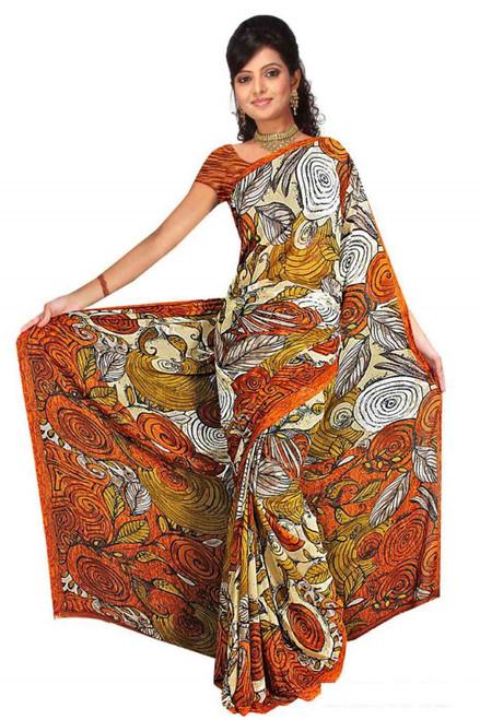 Diya Georgette Printed Casual Saree Sari Bellydance fabric