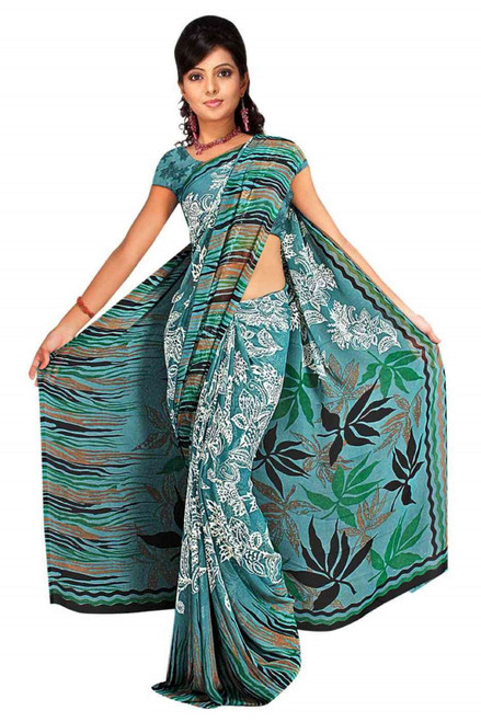 Drishti Georgette Printed Casual Saree Sari Bellydance fabric
