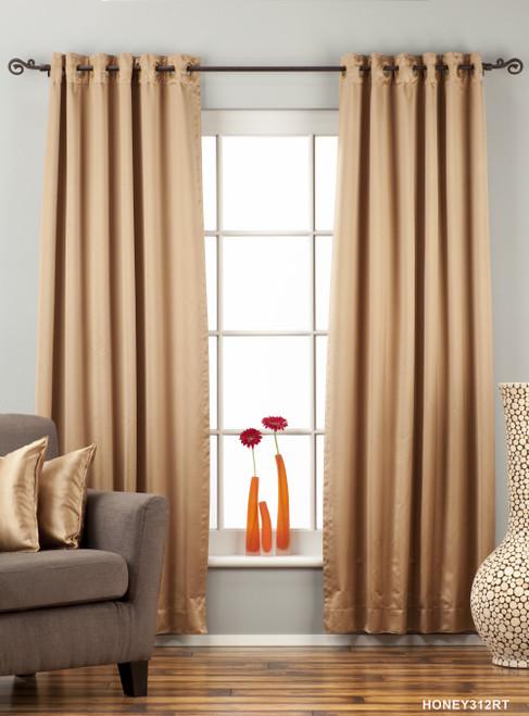 Taupe Ring / Grommet Top 90% blackout Curtain / Drape / Panel  - Piece