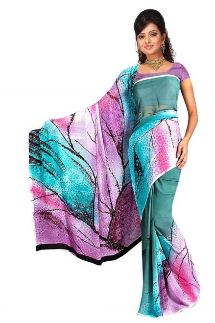 Gopa Georgette Printed Casual Saree Sari Bellydance fabric