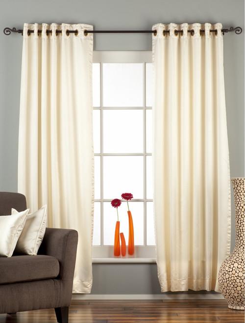 Cream Ring / Grommet Top 90% blackout Curtain / Drape / Panel  - Piece