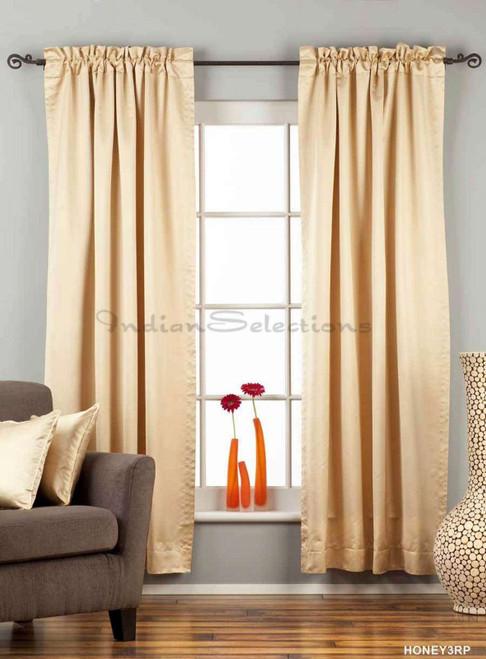 Golden Rod Pocket 90% blackout Curtain / Drape / Panel  - Piece