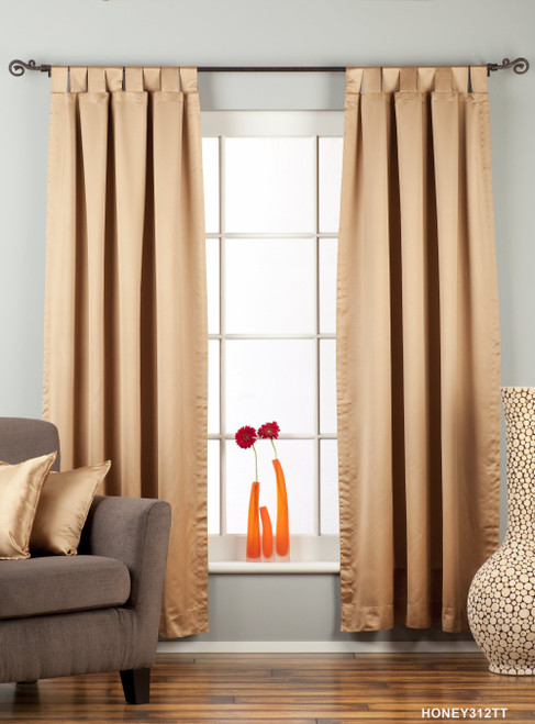 "Taupe Tab Top 90% blackout Curtain / Drape / Panel - 50X84"" - Piece"