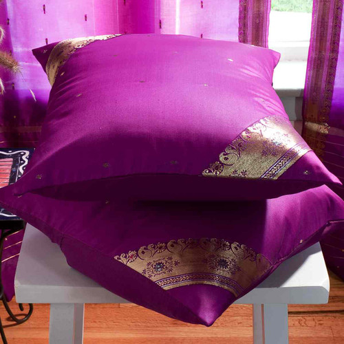 Violet red- handcrafted Cushion Cover, Throw Pillow case Euro Sham-6 Sizes