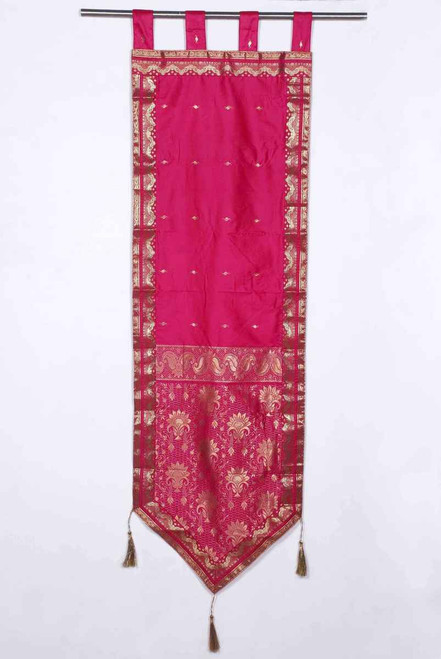 Pink - Handmade Wall hanging Wall decor Tapestry  with Tassels