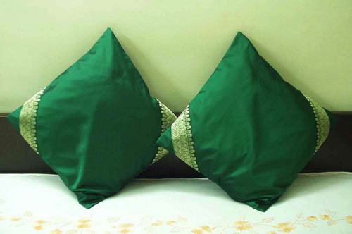 Forest Green- handcrafted Cushion Cover, Throw Pillow case Euro Sham-6 Sizes
