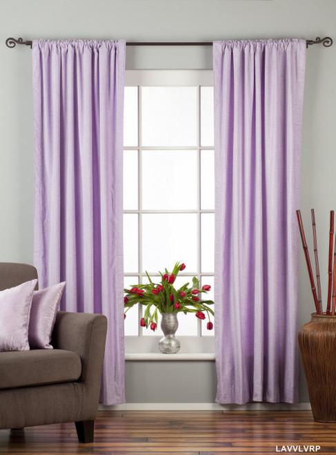 Lavender Rod Pocket  Velvet Curtain / Drape / Panel  - Piece