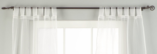 "White Tab Top Sheer Tissue  Curtain / Drape / Panel  - 84"" - Piece"
