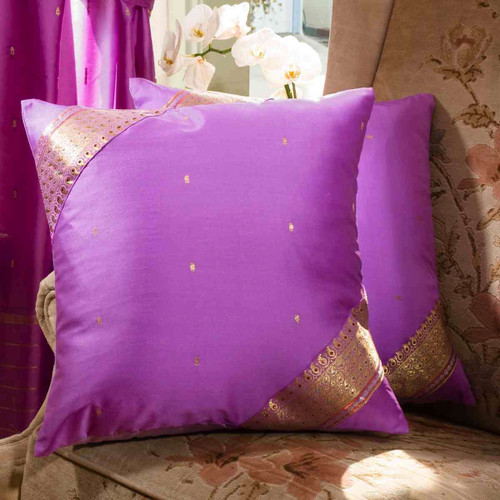 Lavender- handcrafted Cushion Cover, Throw Pillow case Euro Sham-6 Sizes