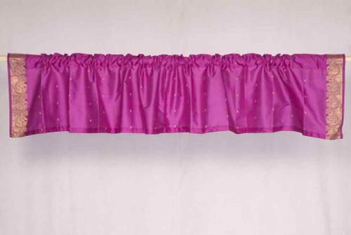 Violet Red - Rod Pocket Top It Off handmade Sari Valance - Pair