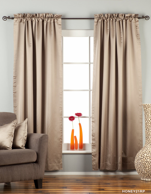 Brownish Gray Rod Pocket 90% blackout Curtain / Drape / Panel  - Piece