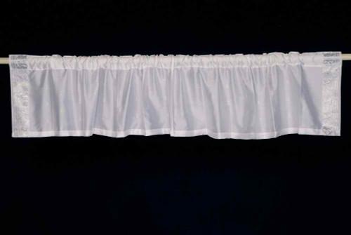 White Silver - Rod Pocket Top It Off handmade Sari Valance - Pair