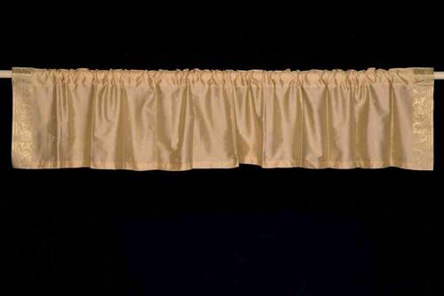 Golden - Rod Pocket Top It Off handmade Sari Valance - Pair