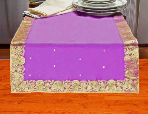 Lavender - Hand Crafted Table Runner (India)