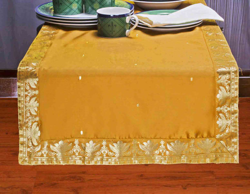Mustard - Hand Crafted Table Runner (India)