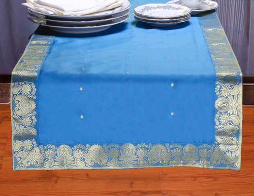 Turquoise - Hand Crafted Table Runner (India)
