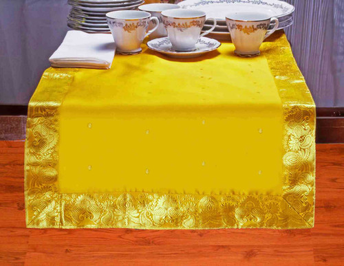 Yellow - Hand Crafted Table Runner (India)
