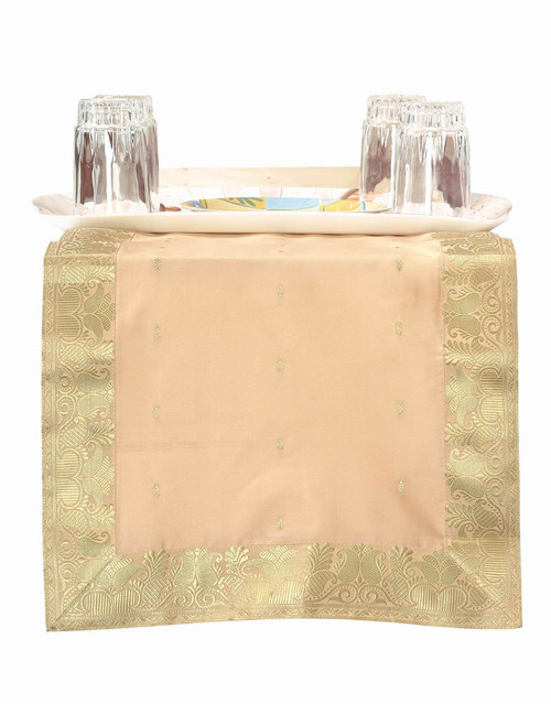 Gold - Hand Crafted Table Runner (India)