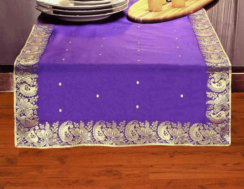 Purple - Hand Crafted Table Runner (India)