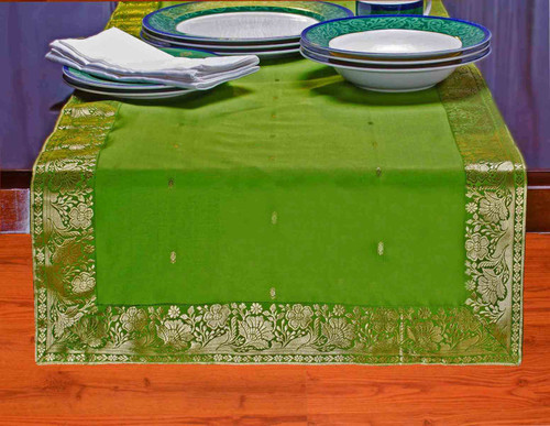Forest Green - Hand Crafted Table Runner (India)