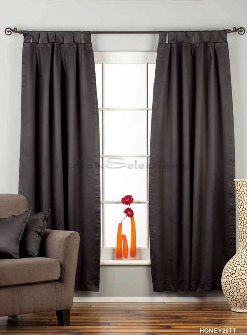 "Black Tab Top 90% blackout Curtain / Drape / Panel - 50X84"" - Piece"