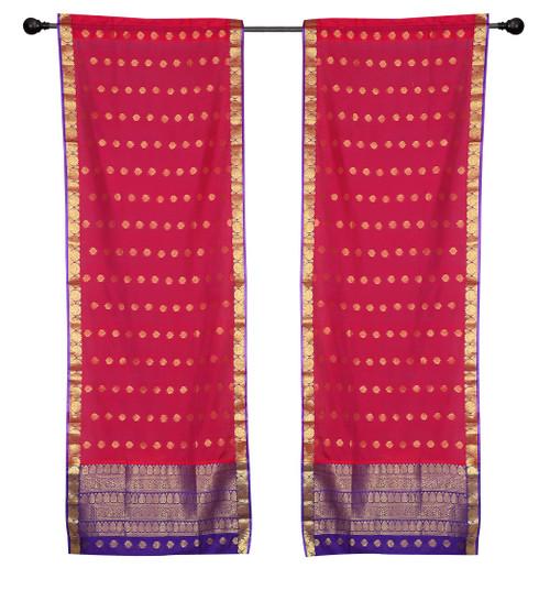 2 Bohemian Indian Sari Curtains Rod Pocket Living Room Decor Window Treatment