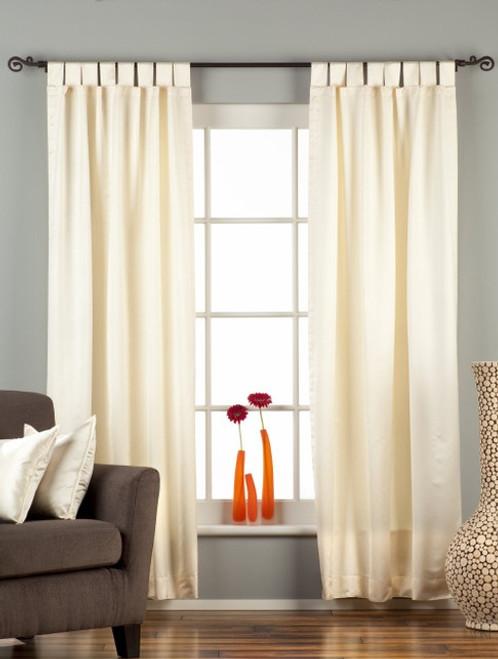 Cream Tab Top 90% blackout Curtain / Drape / Panel  - Piece