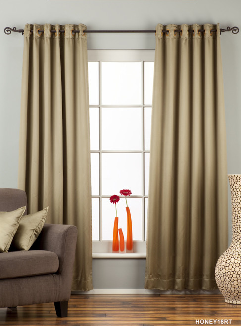 Olive Green Ring / Grommet Top 90% blackout Curtain / Drape / Panel  - Piece