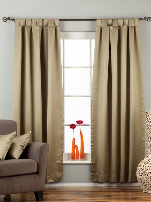 "Olive Green Tab Top 90% blackout Curtain / Drape / Panel - 50X84"" - Piece"
