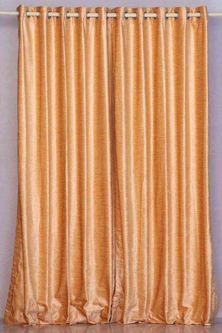 Peach Ring / Grommet Top  Velvet Curtain / Drape / Panel  - Piece