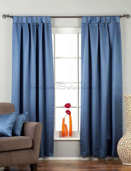 "Blue Tab Top 90% blackout Curtain / Drape / Panel - 50X84"" - Piece"