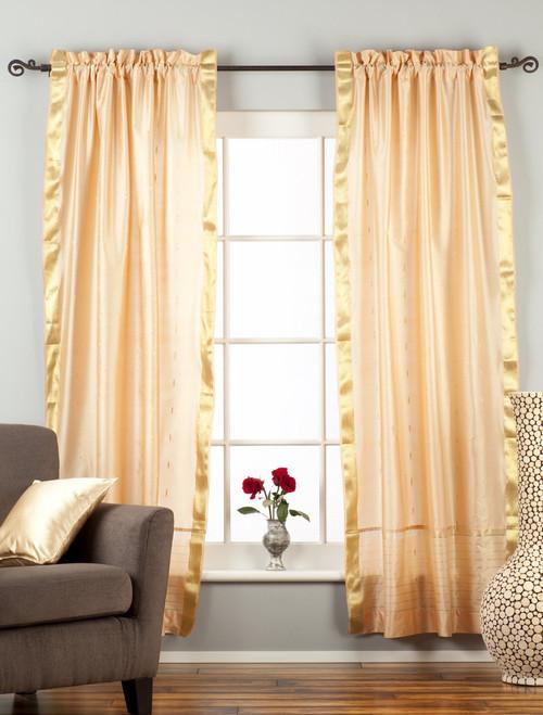Misty Rose  Rod Pocket  Sheer Sari Curtain / Drape / Panel  - Piece