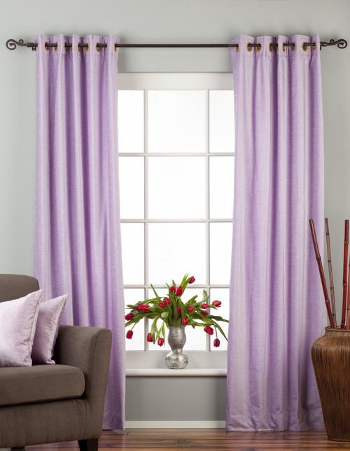 Lavender Ring / Grommet Top  Velvet Curtain / Drape / Panel  - Piece
