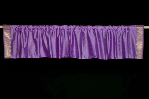 Lavender - Rod Pocket Top It Off handmade Sari Valance - Pair