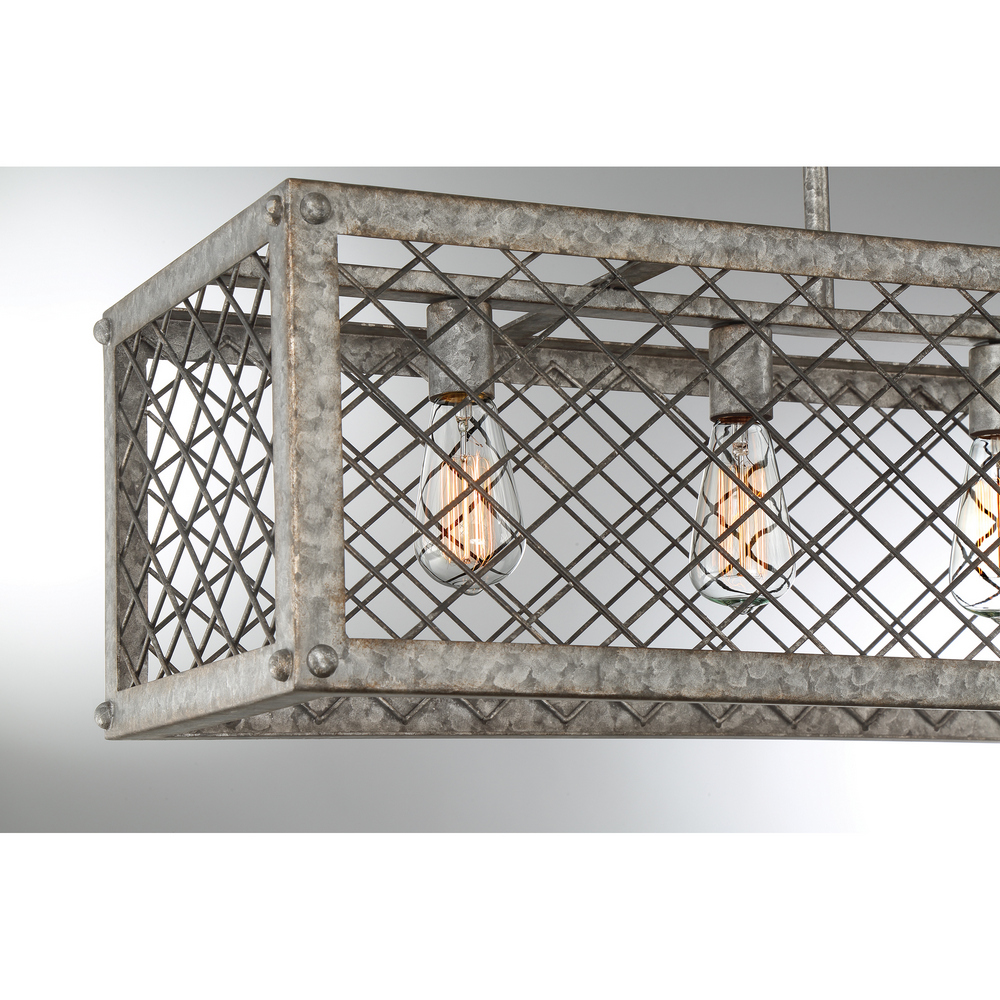Rustic Gold Quoizel BH542RG Booth Chandelier Island Light