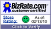 Bizrate certification badge