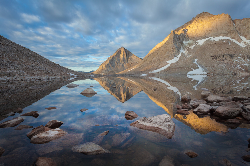 Royce Lakes and Merriam Peak, Dawn