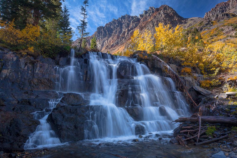 Upper Waterfall - Lundy Canyon