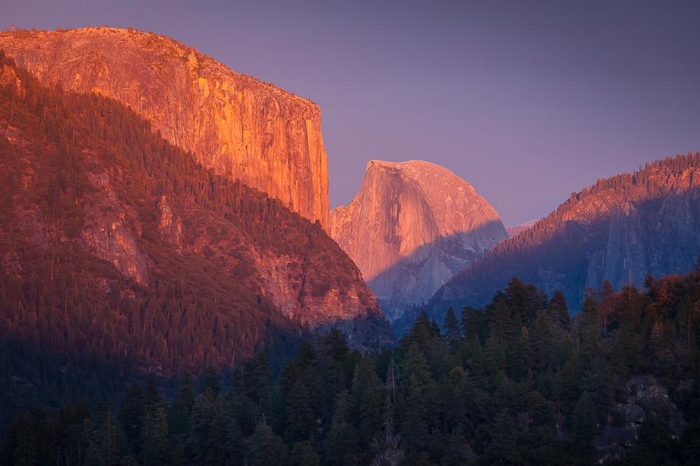 Dusk over Yosemite Valley