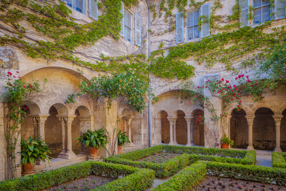 The Courtyard of St. Paul de Mausole, Saint Remy