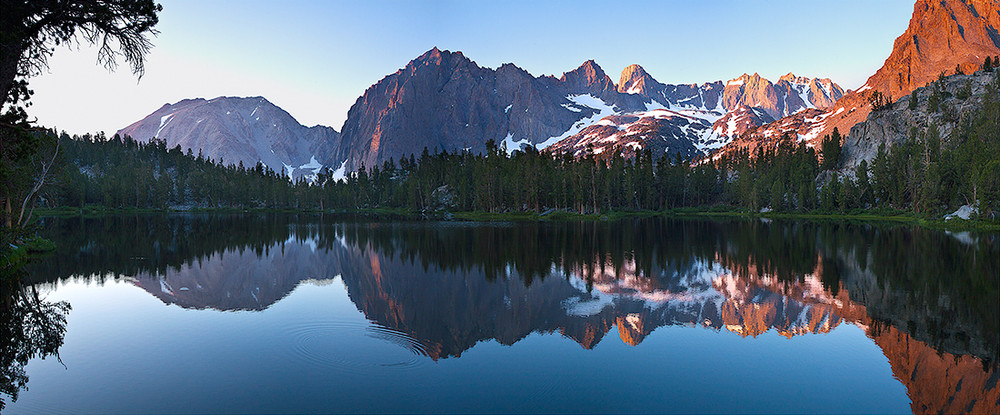 Dawn - Temple Crag and the Palisades