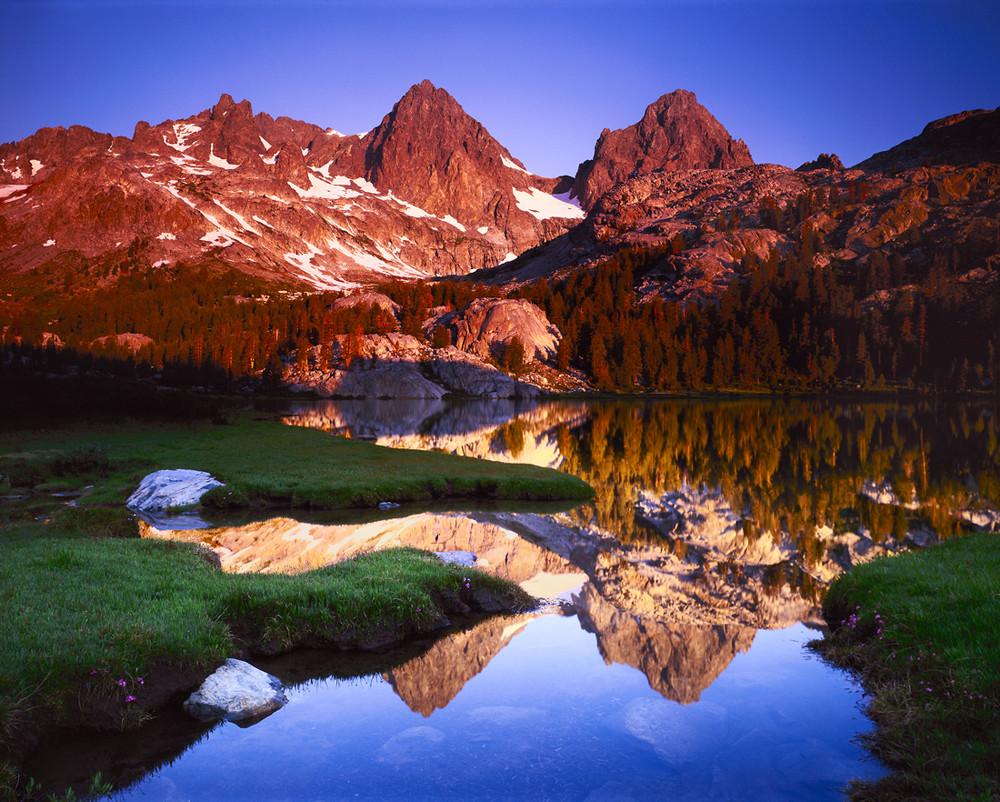 Mount Ritter and Banner Peak above Lake Ediza