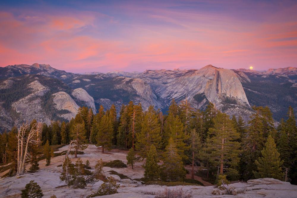 Full Moonrise over Yosemite Valley