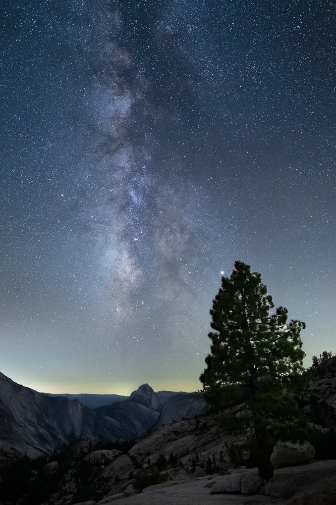 The Milky Way and Half Dome
