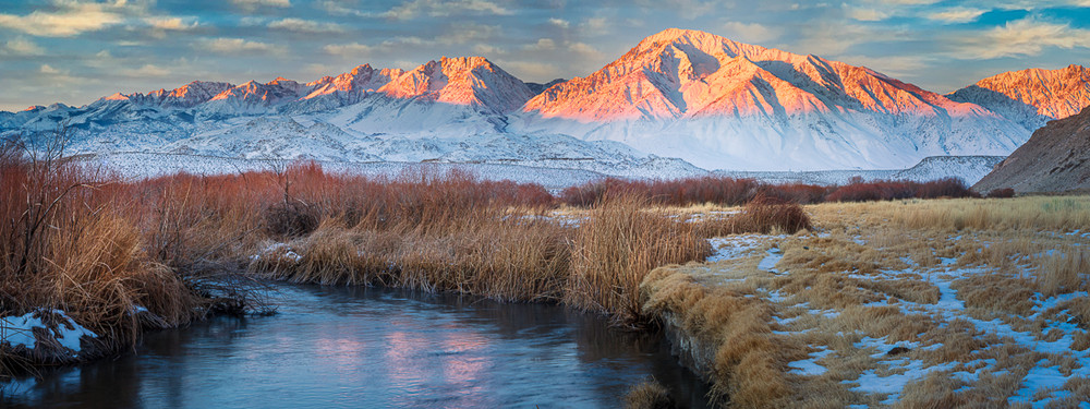 Winter Dawn in the Owens Valley - Panoramic