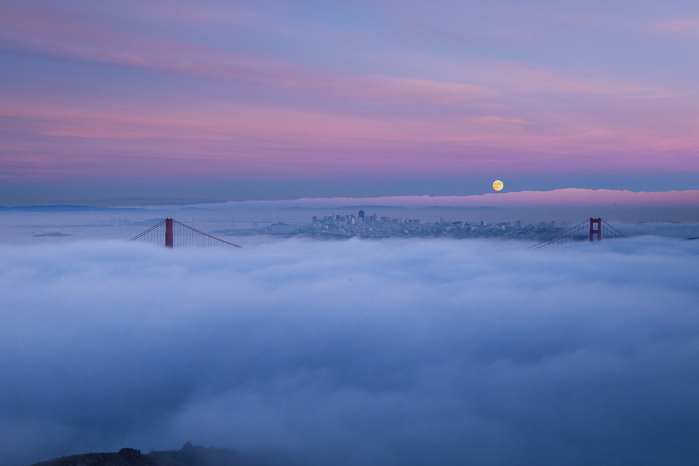 The Full Moon and the Golden Gate