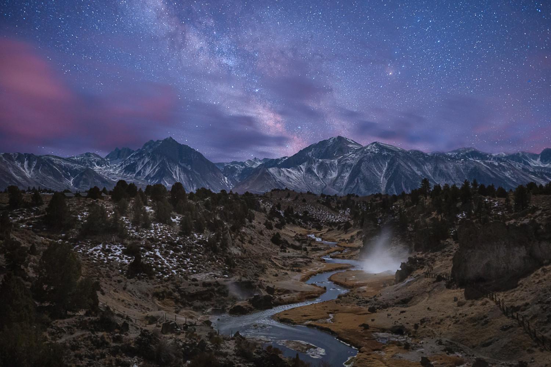 The Milky Way over Hot Creek