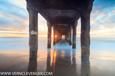 Sunset, Southern California Pier