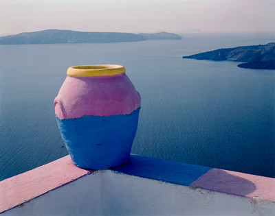 Pink Pot of Santorini